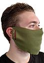 Unisex Rib Face Mask OLIVE Side