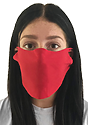 Unisex Rib Face Mask RED Front