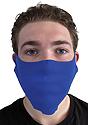 Unisex Rib Face Mask ROYAL Front