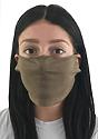 Unisex Jersey Face Mask HEATHER MOCHA Side