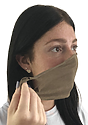 Unisex Jersey Face Mask HEATHER MOCHA Laydown2