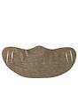 Unisex Jersey Face Mask HEATHER MOCHA Laydown