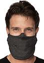 Unisex Jersey Face Mask HEATHER SMOKE Side