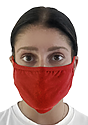 Unisex Organic 2 Ply Face Mask CHERRY Front