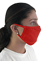 Unisex Organic 2 Ply Face Mask CHERRY Side