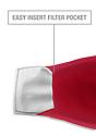 Unisex Organic 2 Ply Face Mask CHERRY Laydown