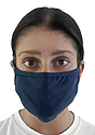 Unisex Organic 2 Ply Face Mask OCEAN Front