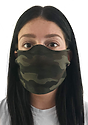 Unisex Camo Jersey Face Mask CAMO Front