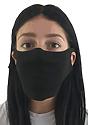 Unisex Jersey Face Mask BLACK Side