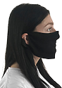 Unisex Jersey Face Mask BLACK Laydown
