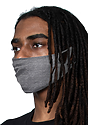 Unisex Jersey Face Mask HEATHER CHARCOAL Laydown
