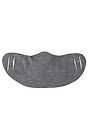 Unisex Jersey Face Mask HEATHER CHARCOAL Laydown2