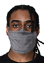 Unisex Jersey Face Mask HEATHER CHARCOAL Side