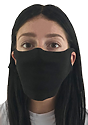 Unisex Rib Face Mask BLACK Front