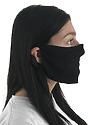 Unisex Rib Face Mask BLACK Side