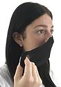 Unisex Rib Face Mask BLACK Laydown