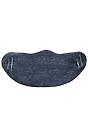 Unisex Rib Face Mask HEATHER DUSK Front