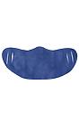 Unisex Rib Face Mask HEATHER ROYAL Front