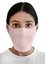 Unisex Rib Face Mask PINK Front