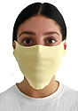 Unisex Rib Face Mask PALE YELLOW Front