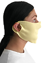 Unisex Rib Face Mask PALE YELLOW Side