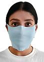 Unisex Rib Face Mask SKY Front