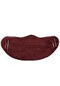 Unisex Rib Face Mask TRI BURGUNDY Front