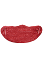 Unisex Rib Spandex Face Mask RED Front