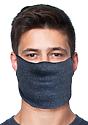 Unisex Rib Spandex Face Mask TRI DENIM NAVY Front