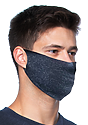Unisex Rib Spandex Face Mask TRI DENIM NAVY Side