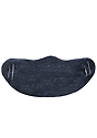 Unisex Rib Spandex Face Mask TRI DENIM NAVY Side2