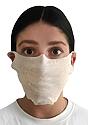 Unisex Rib Spandex Face Mask TRI OATMEAL Front