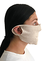 Unisex Rib Spandex Face Mask TRI OATMEAL Side