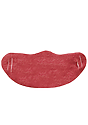 Unisex Rib Spandex Face Mask TRI RED Front